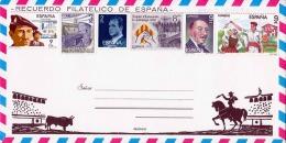 Brief - Recuerdo Filatelico De Espana, Vorfrankierter Brief Mit 6 Sondermarken - 1931-Heute: 2. Rep. - ... Juan Carlos I