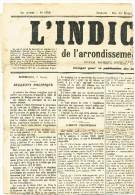 796/22 - Journal Complet L´ Indicateur D' HAZEBROUCK 1896 - TP Sage 1 C Oblitéré Typo - Cérès Cote 100 EUR - Newspapers