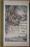 Catalogue Officiel De La Section De Ceylan à L´Exposition Universelle De Paris 1900 - 1801-1900