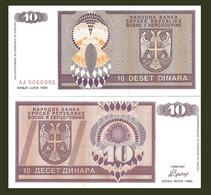 Bosnia P133a,10 Dinara UNC- Serbian Republic - Bosnia Erzegovina