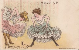 """RF Outcault Artist Signed : """"Hold Up"""" - Humor On 1900s Vintage Postcard - Illustrators & Photographers"""