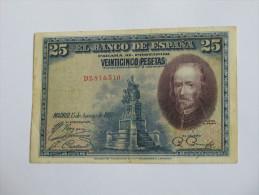 ESPAGNE 25 Veinticinco Pesetas 1928 - El Banco De Espana  **** EN ACHAT IMMEDIAT **** - 25 Pesetas