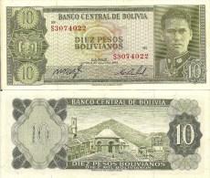Bolivia P154a ,10 Bolivianos, 1962, Busch / Potasi - Bolivia
