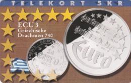 Denmark, P 181, Ecu - Greece, Mint, Only 700 Issued, 2 Scans.  Please Read - Denmark