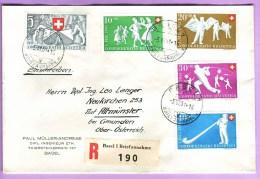 PATRIA 1951  SATZBRIEF, EINSCHREIBEN,AUSLAND, ECHT GELAUFEN B51/55 KAT 130.-  SBK - Storia Postale