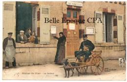 45 - VIENNE-en-VAL - Attelage de Chien - Le Facteur / DOG CART / VOITURE � CHIEN ++ 1924 ++ RARE / L. Lenormand, Orl�ans