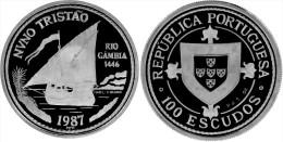 """PORTUGAL 100 ESCUDOS Cu-Ni 1.987 KM#640 SC/UNC """"NUNO TRISTAO""""    T-DL-11.008 - Portugal"""