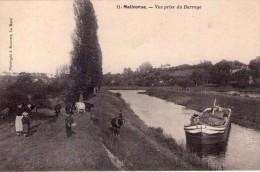 Batellerie Navigation Péniches Bateaux Gabares Loire Rivière Malicorne Animée Vue Prise Du Barrage.. Vaches.. Cheval - Embarcaciones