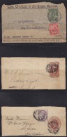 5574. Great Britain, 3 Letter Cuttings - 1902-1951 (Kings)