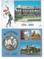 2 CPM - BI- CENTENAIRE De La REVOLUTION - PARIS Et RENNES (35) Parlement De Bretagne - Historia