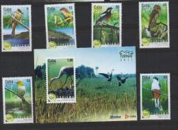 N518.-. C U B A.-. 2011.-. MNH SET X 6 STAMPS + 1 S/S .-.  BIRDS  /  AVES.  TOURISM  /  TURISMO - Vögel