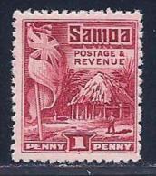 Samoa, Scott #143 Mint Hinged Samoan House, Flag, 1921 - Samoa