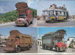 Camions Pakistanais - Lot De 4 Cartes Splendides - Camión & Camioneta