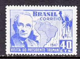Brazil 673    *  STATUE OF LIBERTY  U.S. PRES. TRUMAN - Unused Stamps
