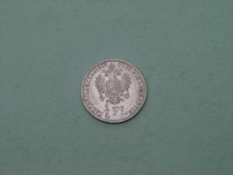 1859 A - 1/4 Florin / KM 2214 ( Uncleaned Coin / For Grade, Please See Photo ) !! - Autriche
