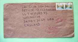Zimbabwe 2000 Cover To England - Dam (Scott 853 = 2 X 6.25 = 12.50 $) - TAX 200 / 400 - Zimbabwe (1980-...)