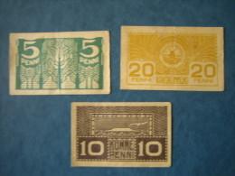 ESTONIA 5 ,10 AND 20 PENNI PRE WWII - Estonia
