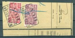 """BELGIE - Cachets   """"NORD-BELGE - HUY 2"""" (ref. 375) - Op Fragment - Bahnwesen"""