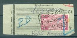 """BELGIE - Cachets   """"NORD-BELGE - FRAMERIES 7"""" (ref. 387) - Op Fragment - Bahnwesen"""