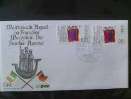 "1989 Joint Germany / Ireland - 1300th Anniv. Martyrdom ""Frankish Apostles"" Irish Joint FDC - Emissions Communes"