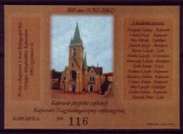 Ungarn Hungaria 2002 - Kirche Kaposvar - Erinnofile - Kirchen U. Kathedralen