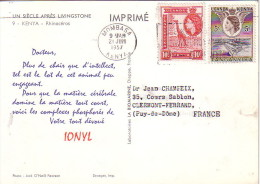KENYA - MOMBASA - PLASMARINE - IONYL- UN SIECLE APRES LIVINGSTONE 1956-1957 - RHINOCEROS. - Zambie (1965-...)