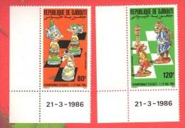 DJIBOUTI 1986 Neuf** Echecs Echec Chess Ajedrez Schach Scacchi - Scacchi