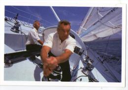 CARTE PUB   ERIC TABARLY ET YVES PARLIER A BORD D AQUITAINE INNOVATION JUIN 1997 - Segeln