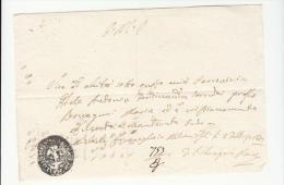 DE373-1849 STATO CHIESA AREA ROMAGNA Certificato Parrocchia Di SAN MICHELE ARCANGELO In....-timbro NEGATIVO PARROCCHIA - Documents Historiques