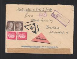 Dt. Reich Nachnahme Brief Landstempel Benndorf Doppelverwendung Breslau - Briefe U. Dokumente