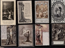 10 X GEBOREN TE HUISSE - HUYSSE ( Zingem ) - 10 X NE A HUYSSE - 2 SCAN - MARIA - JESUS - MARIE - Images Religieuses