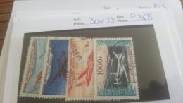 LOT 217284 TIMBRE DE FRANCE OBLITERE N�30 A 33 VALEUR 36,8 EUROS