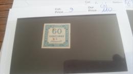 LOT 217289 TIMBRE DE FRANCE NEUF(*) N�9 VALEUR 110 EUROS