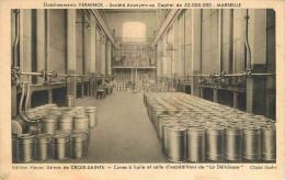 """13 MARSEILLE  établissement VERMINCK  Cuves à Huile Et Salle D'expéditions De """" La Délicieuse """" 2 Scans - Marseille"""