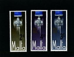 MALTA - 1967 GEORGE CROSS  SET  MINT NH - Malta