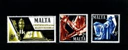 MALTA - 1967 MARTYRDOM OF SAINTS PETER AND PAUL  SET  MINT NH - Malta