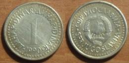 1990  - Yougoslavie - Yugoslavia - 1 DINAR - KM 142 - Jugoslavia