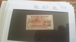 LOT 217344 TIMBRE DE FRANCE NEUF* N�167 VALEUR 27 EUROS