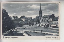 POMMERN - SWINOUJSCIE / SWINEMÜNDE, Adolf-Hitler-Platz, 1943, Bahnpost: Ducherow-Swinemünde-Wolgast - Pommern