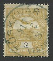 Hungary, 2 F. 1913, Sc # 85, Mi # 110X, Used, Tuskevar - Oblitérés