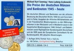 Deutschland Ab 1945 Noten Münzen 2016 New 10€ D AM- BI- Franz.-Zone SBZ DDR Berlin BUND EURO Coins Catalogue BRD Germany - [ 6] 1949-1990 : GDR - German Dem. Rep.