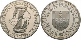 "PORTUGAL 100 ESCUDOS Cu-Ni 1.988 KM#642  SC/UNC  ""Bartolomeu Dias""    T-DL-11.009 - Portugal"