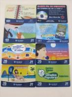 Lot 8:   8 Different Phonecards, 2 Cards With A Little Scratch - Brésil