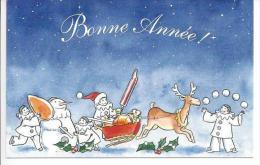 Carte - Bonne Année - Pierrot Gourmand - New Year