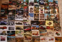 Lot +500 cartes : oldtimer, automobile, car, wagen, publicit�, anc�tres, marques voir/zie/see photos