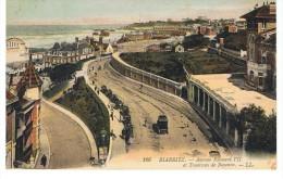 Biarritz -Avenue Edouard VII Et Tramway De Bayonne - LL 166 - Circulé 1913 - Biarritz