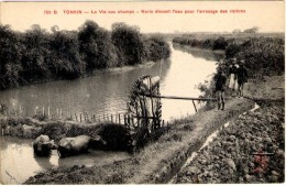 Tonkin - La Vie Aux Champs - Noria élevant L´eau Pour L´arrosage Des Rivières - Vietnam