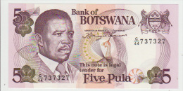 Botswana 5 Pula 1992 Pick 11 UNC - Botswana