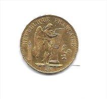20 Francs OR - G�nie - R�publique Fran�aise  - Ann�e 1887 A - Etat SUP +