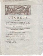 MILITARIA Décrets De La Convention Nationale  An II  Armée Des Alpes Et Des Ardennes Mérite De La Patrie 3 Sca - Documents